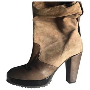 Robert Clergerie | Brown suede leather ankle boots